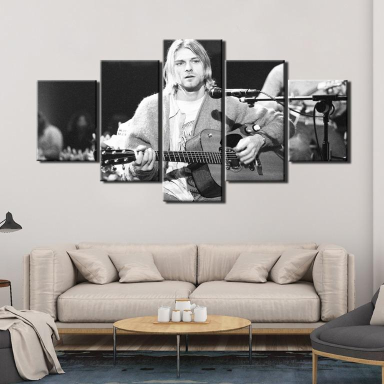 5 Panel Music Poster Canvas Art😊
