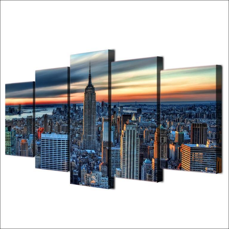 5 Panel New York City Skyscraper😊