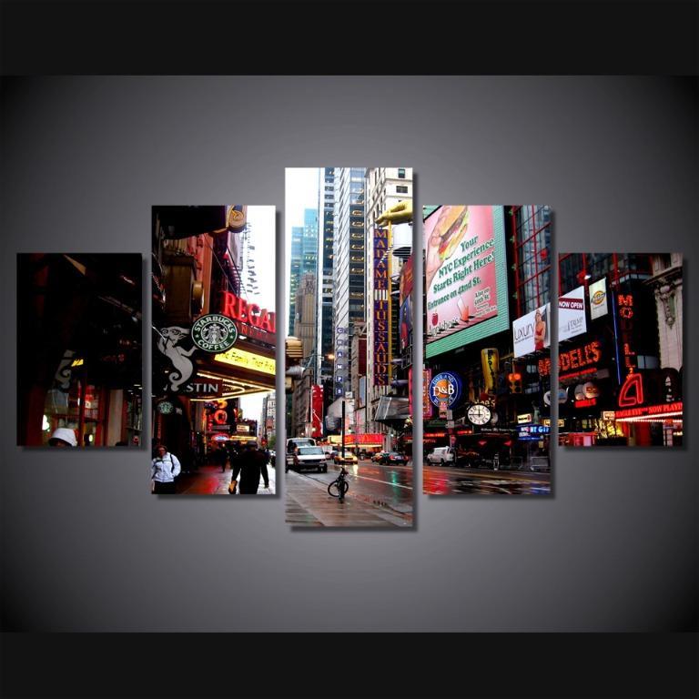 5 Panel New York City Wall Art😊