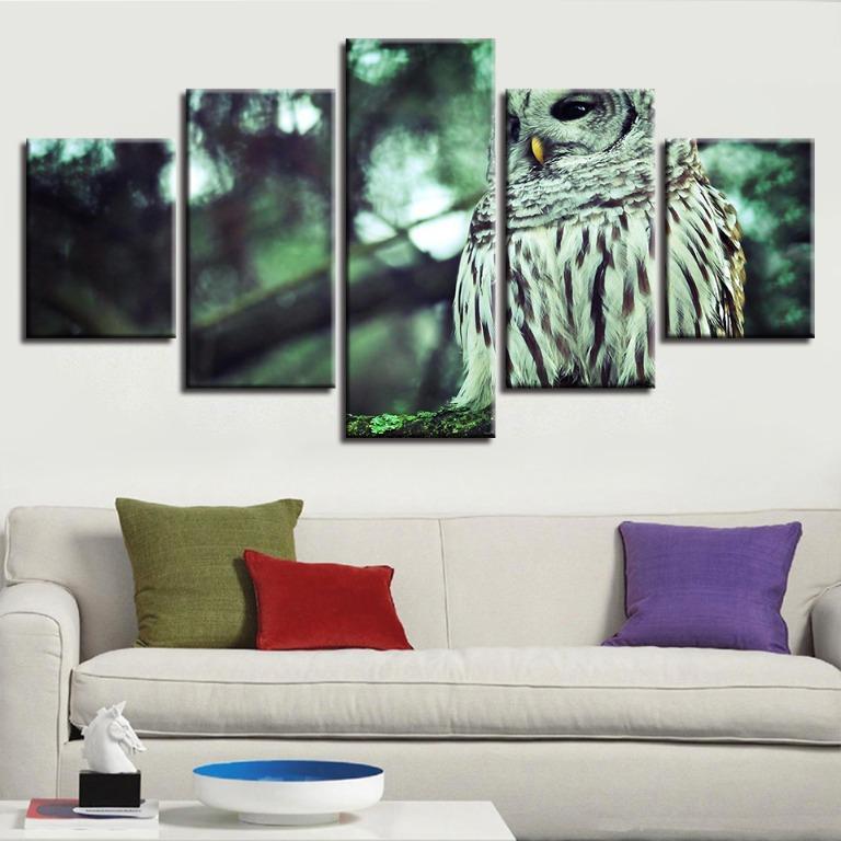 5 Panel Owl Scenery Canvas Art😊