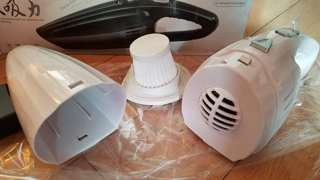全新[大吸力]無綫超輕身525g手提吸塵機(家居/汽車適用)-枱櫈燈梳化床墊架風筒