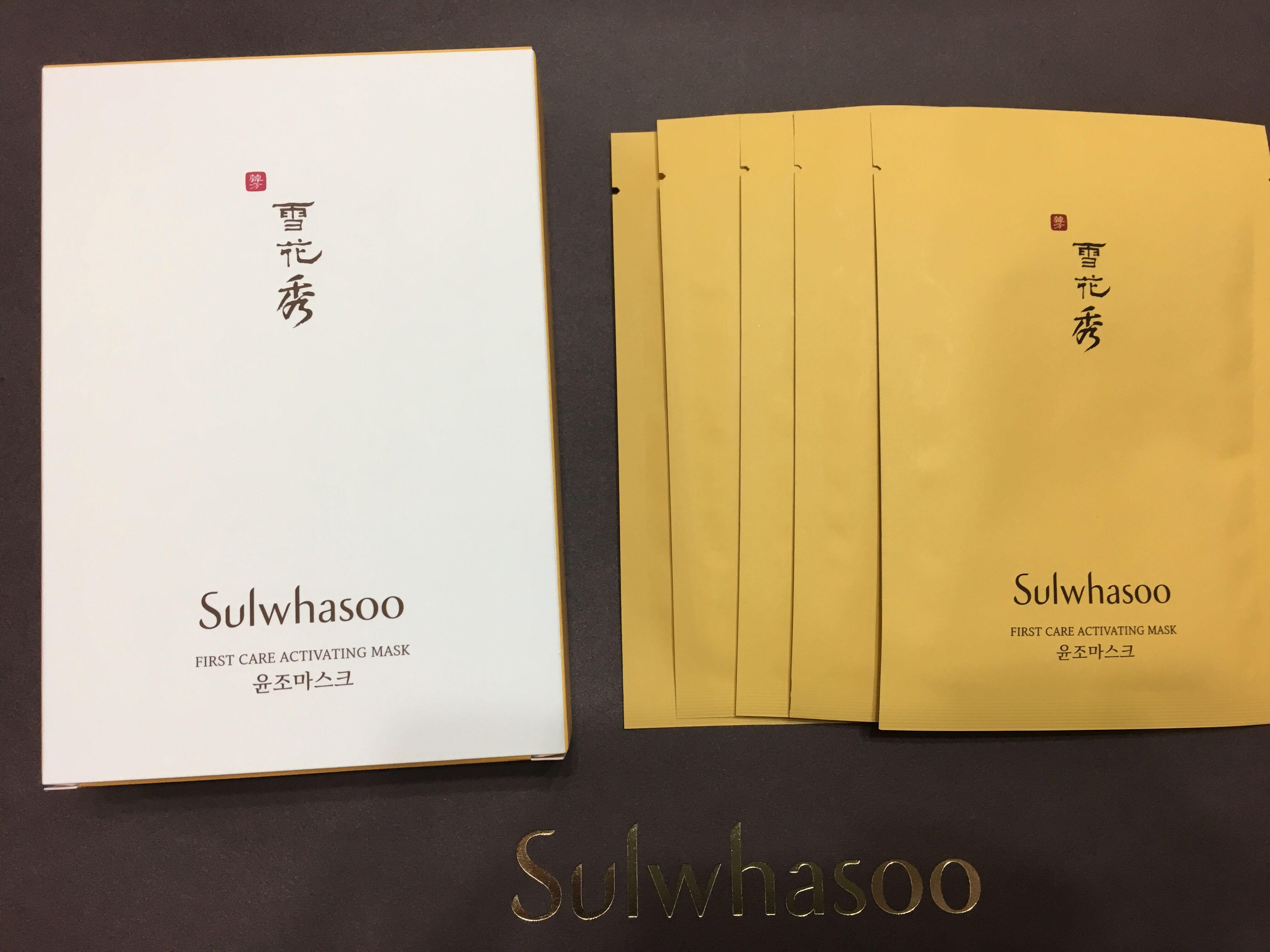 ❄️ 正貨 盒裝 雪花秀 潤燥再生精華面膜 5片 Sulwhasoo First Care Activating Mask