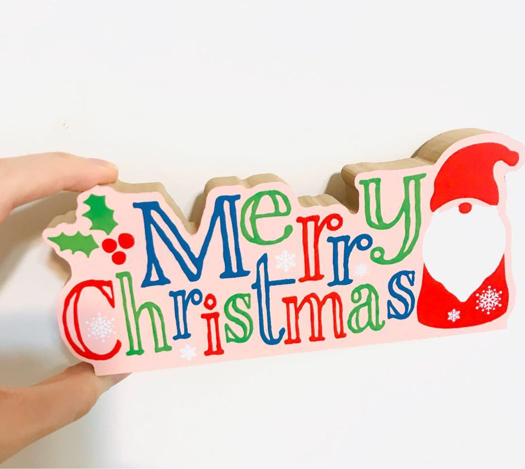 最後一個🎄🎅🏻聖誕老人 木質 擺設家居酒店裝飾禮物 賀禮 派對 禮品 MERRY CHRISTMAS SANTA WOODEN  GIFT HOME HOTEL PARTY CELEBRATION DECORATION
