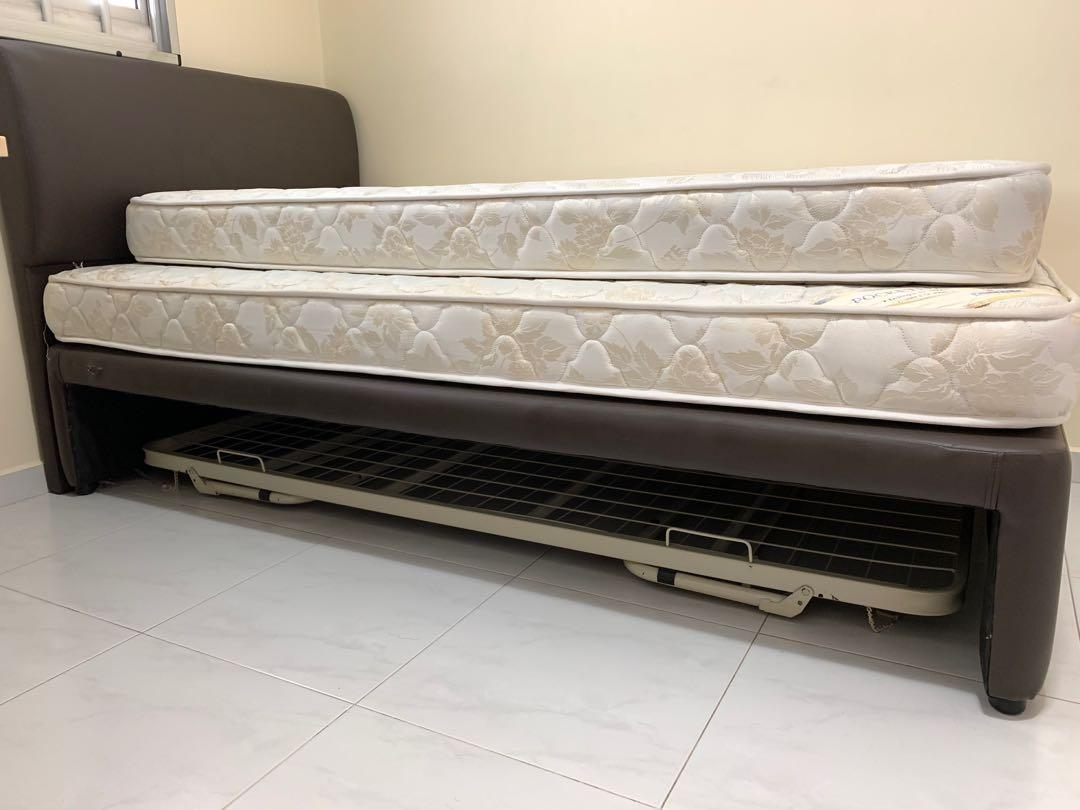 A set of Super Single and Single Mattress with Bed Frames