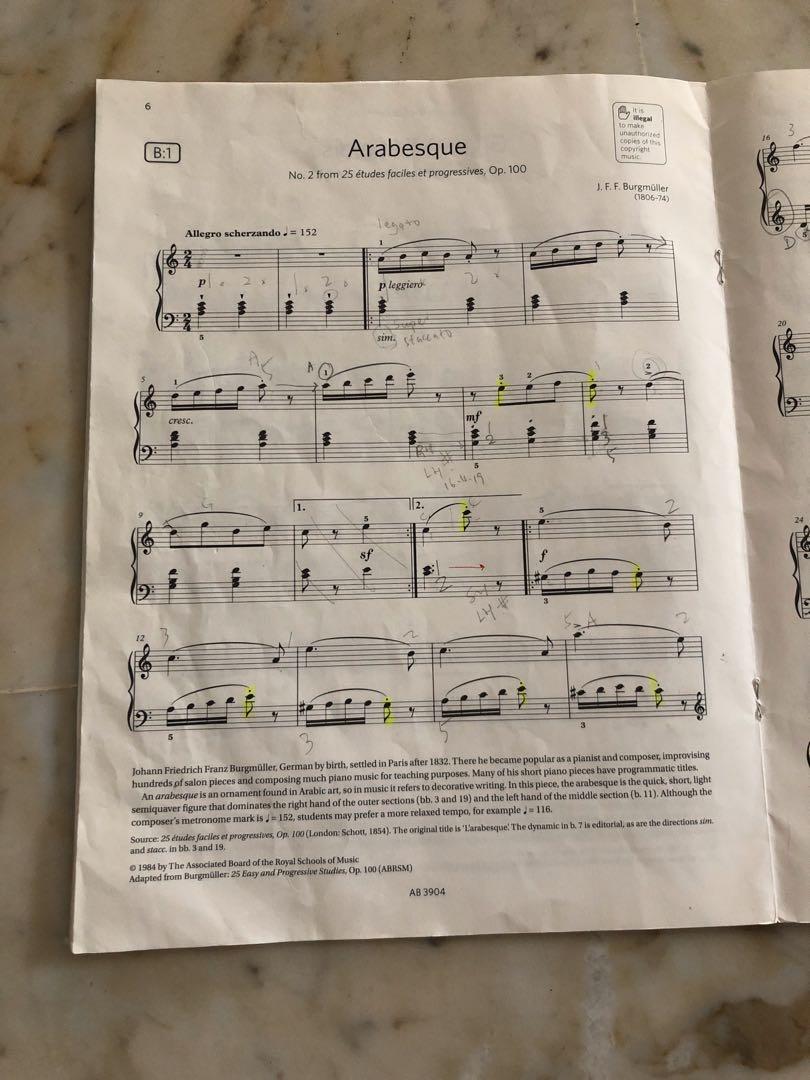 ABRSM Piano Exam Pieces.