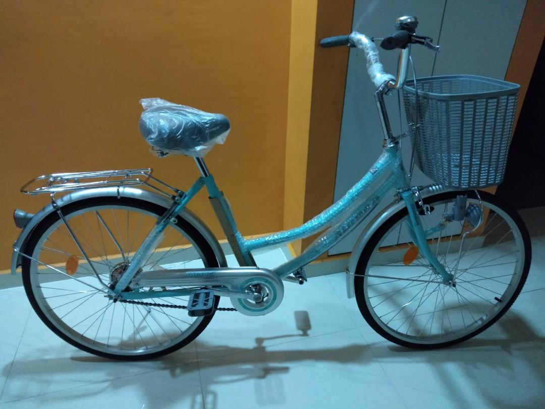 """Aleoca 24"""" City Bicycle Signora (Tiffany blue)"""