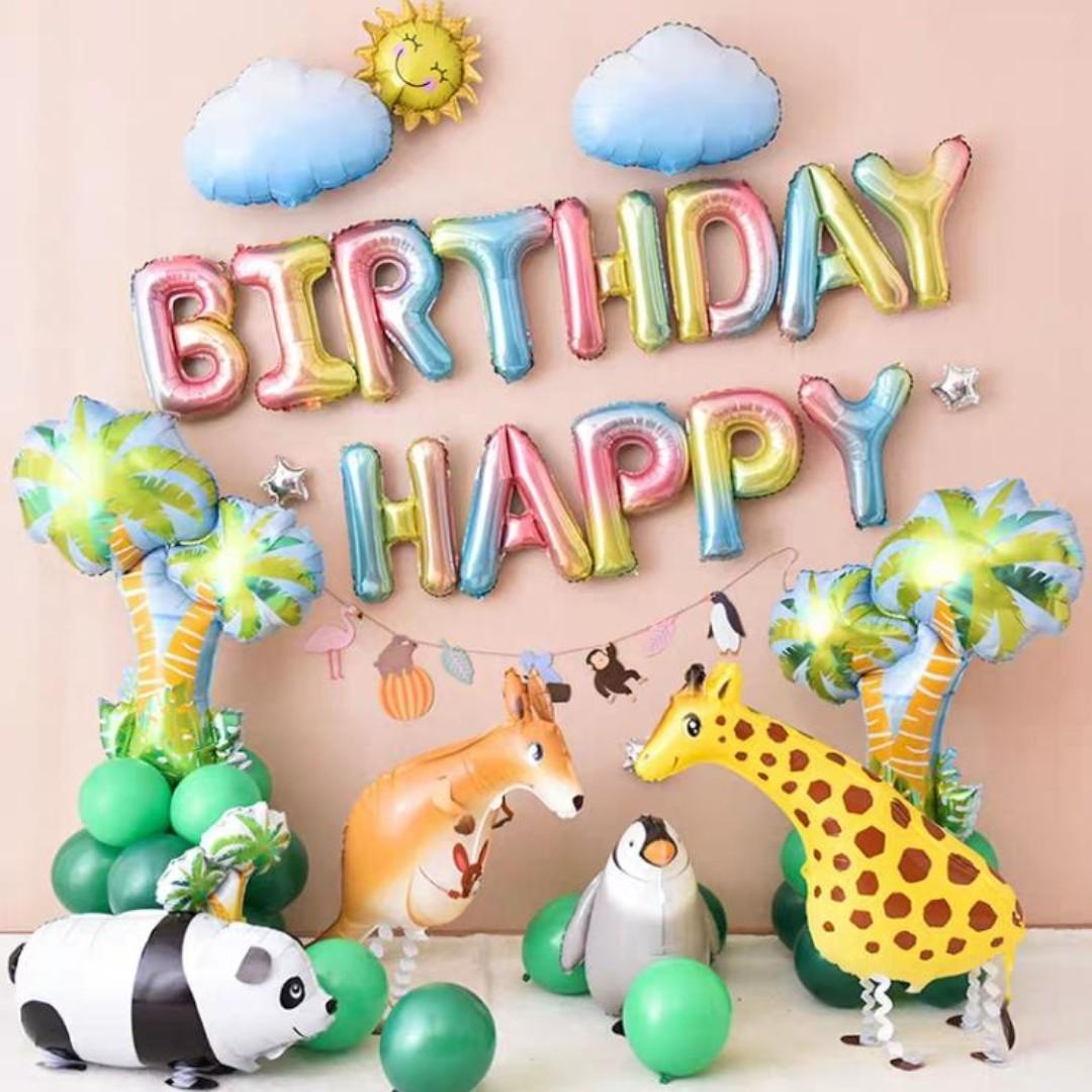 Animal Birthday Decoration Set