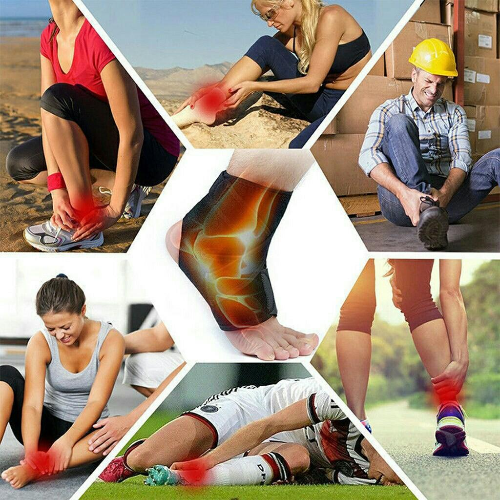 Ankle Brace Support Stabilizer Compression Foot Brace Adjustable Protection Wrap   (Unisex)