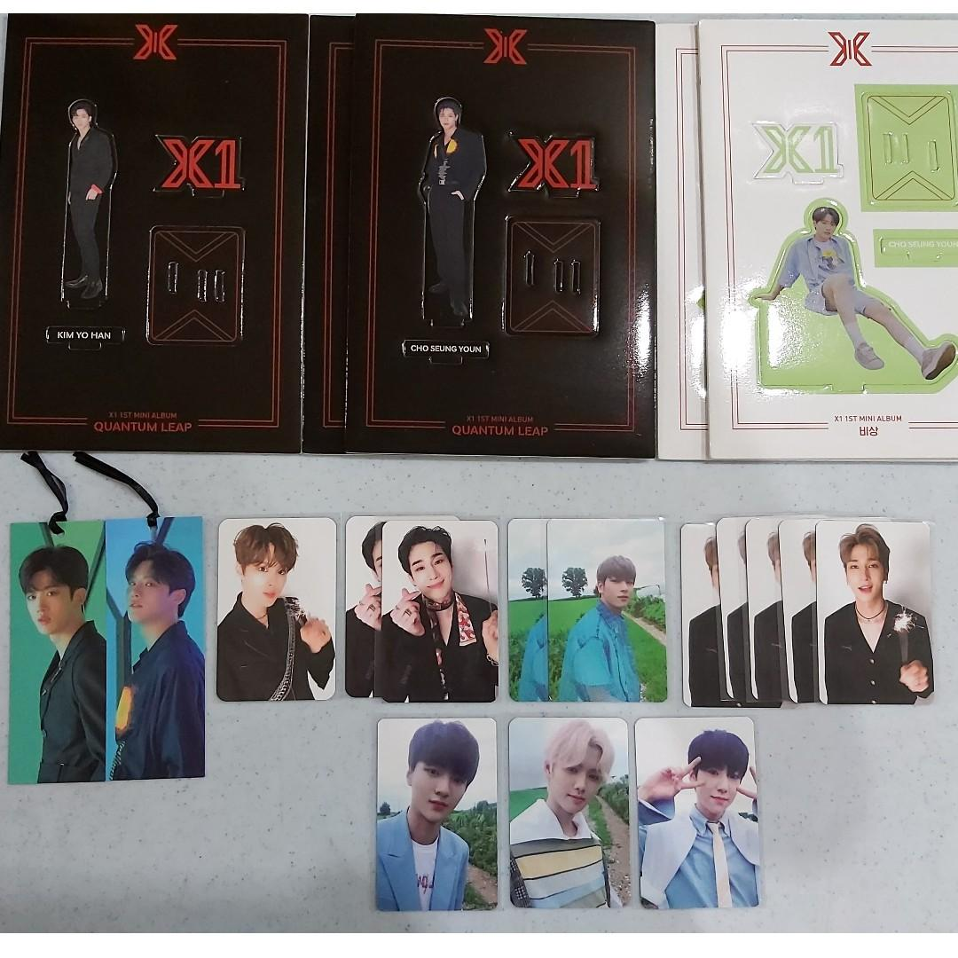 [Arrived - 1st Batch Pre-Order] X1 QUANTUM LEAP Album Photocard / Bookmark / Standee