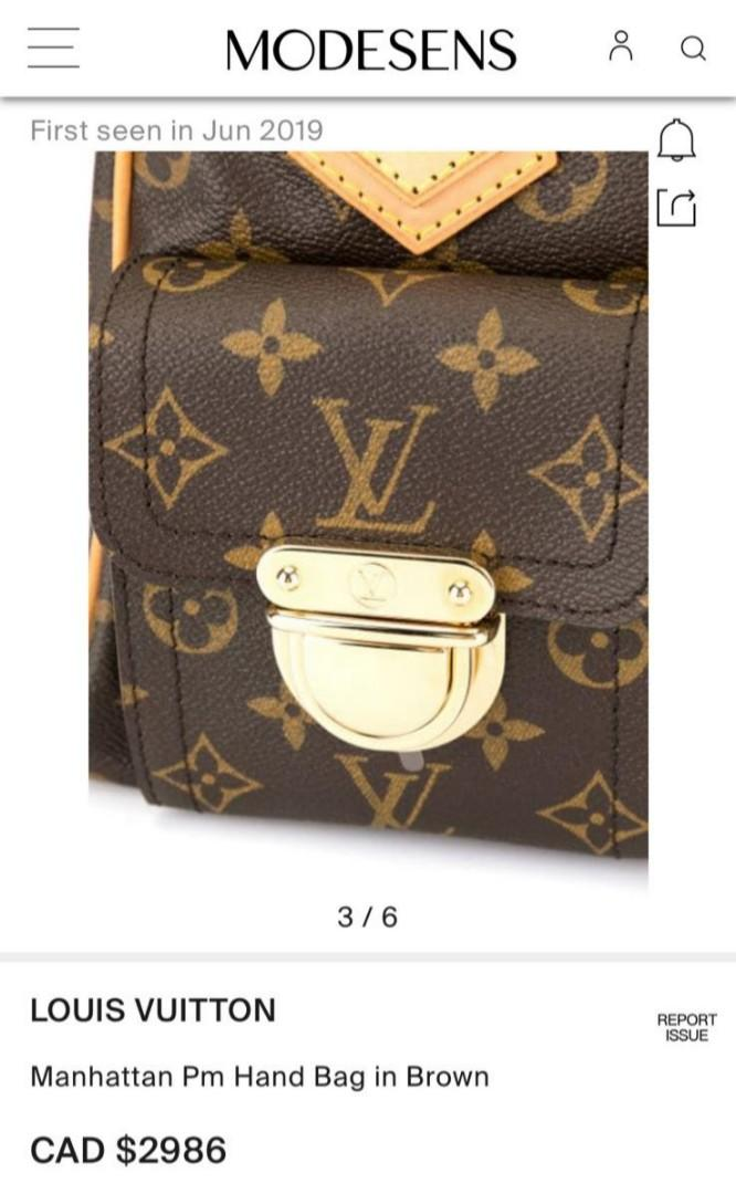 Authentic Louis Vuitton Manhattan Handbag (PRICED TO SELL)
