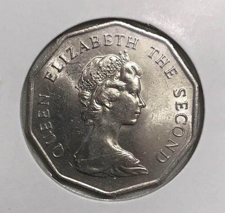 B10.1香港伍圓 1976年 (新淨) 十角伍圓 英女王伊利沙伯二世 $170