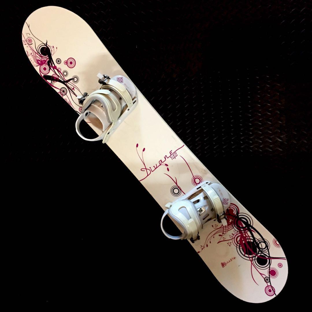 Beginner ladies / big kid's snowboard and bindings
