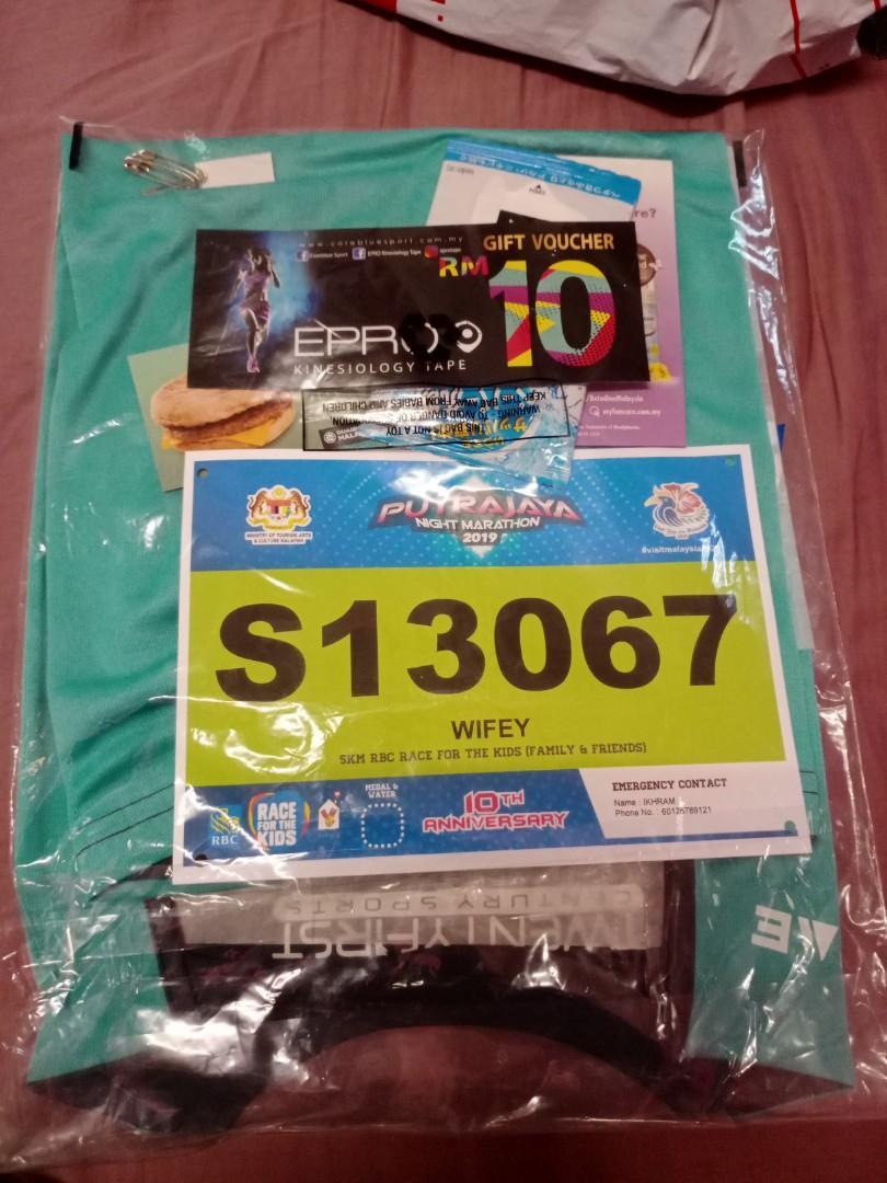 BIB Kit for Putrajaya Night Run- 5km category