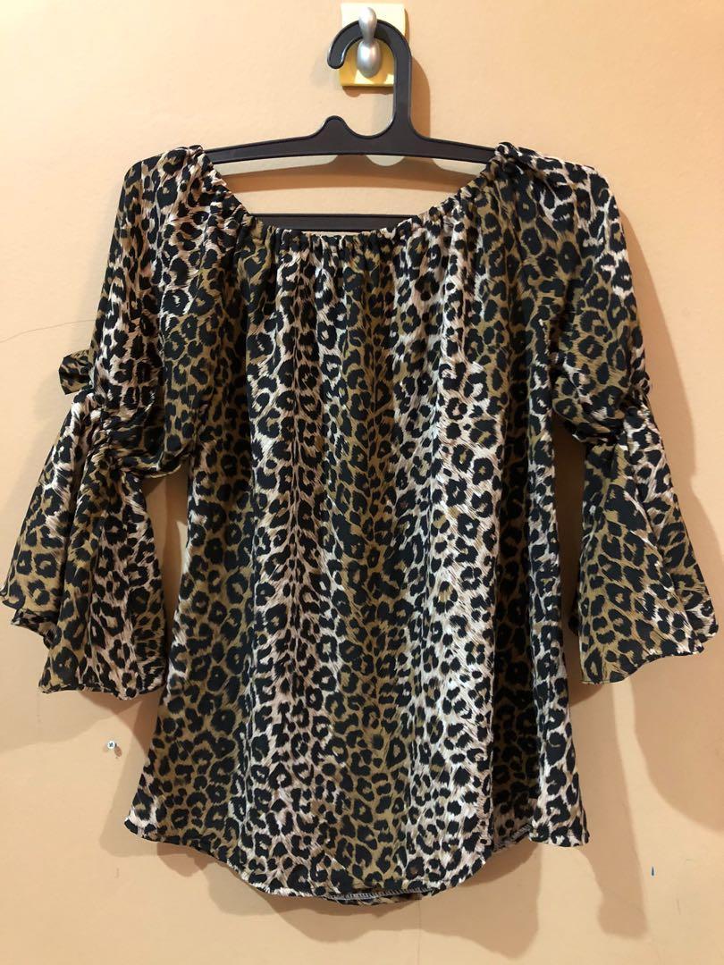 Blouse Sabrina leopard