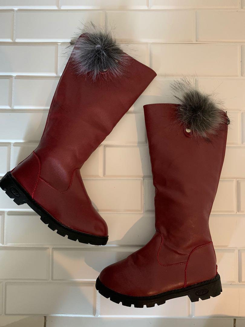 Sepatu Boots Winter  Anak Perempuan Size 36