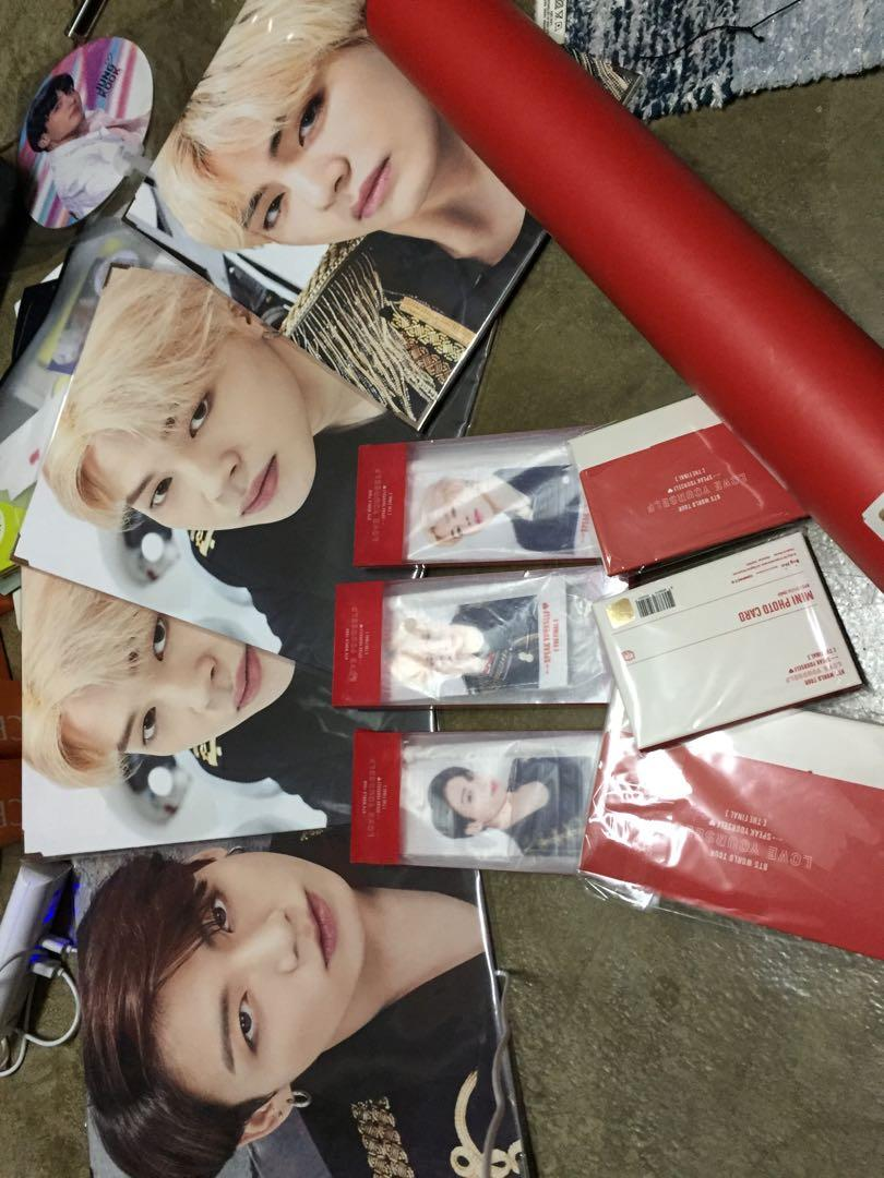 bts the final merchandise photocards/premium photos/photoset/miniflags