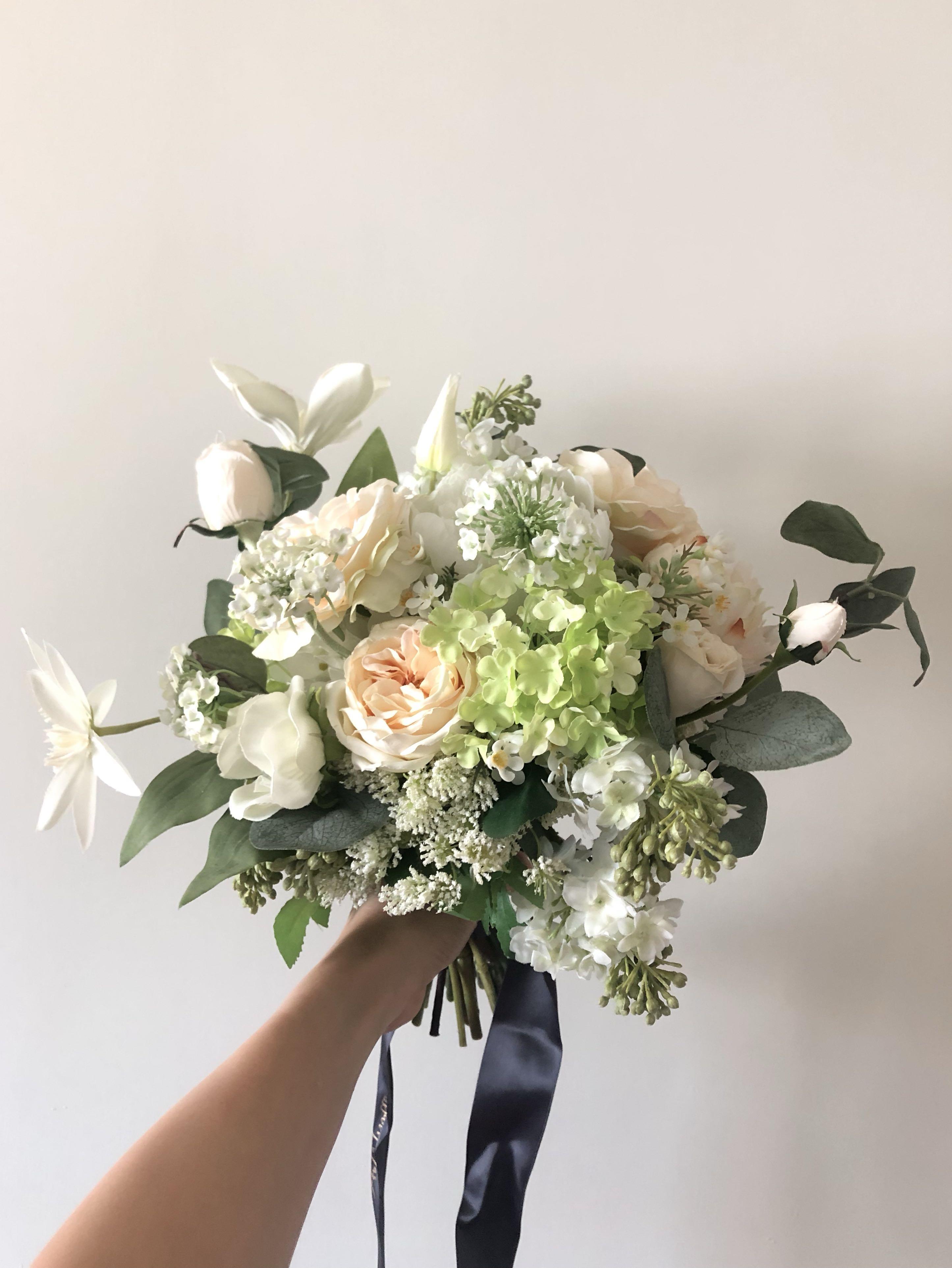 Bunny Garden silk flower bouquet 結婚花球 絲花球