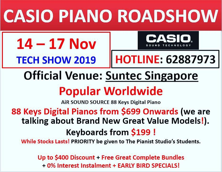 Casio Tech Show 14-17 Nov @ Tech Show 2019
