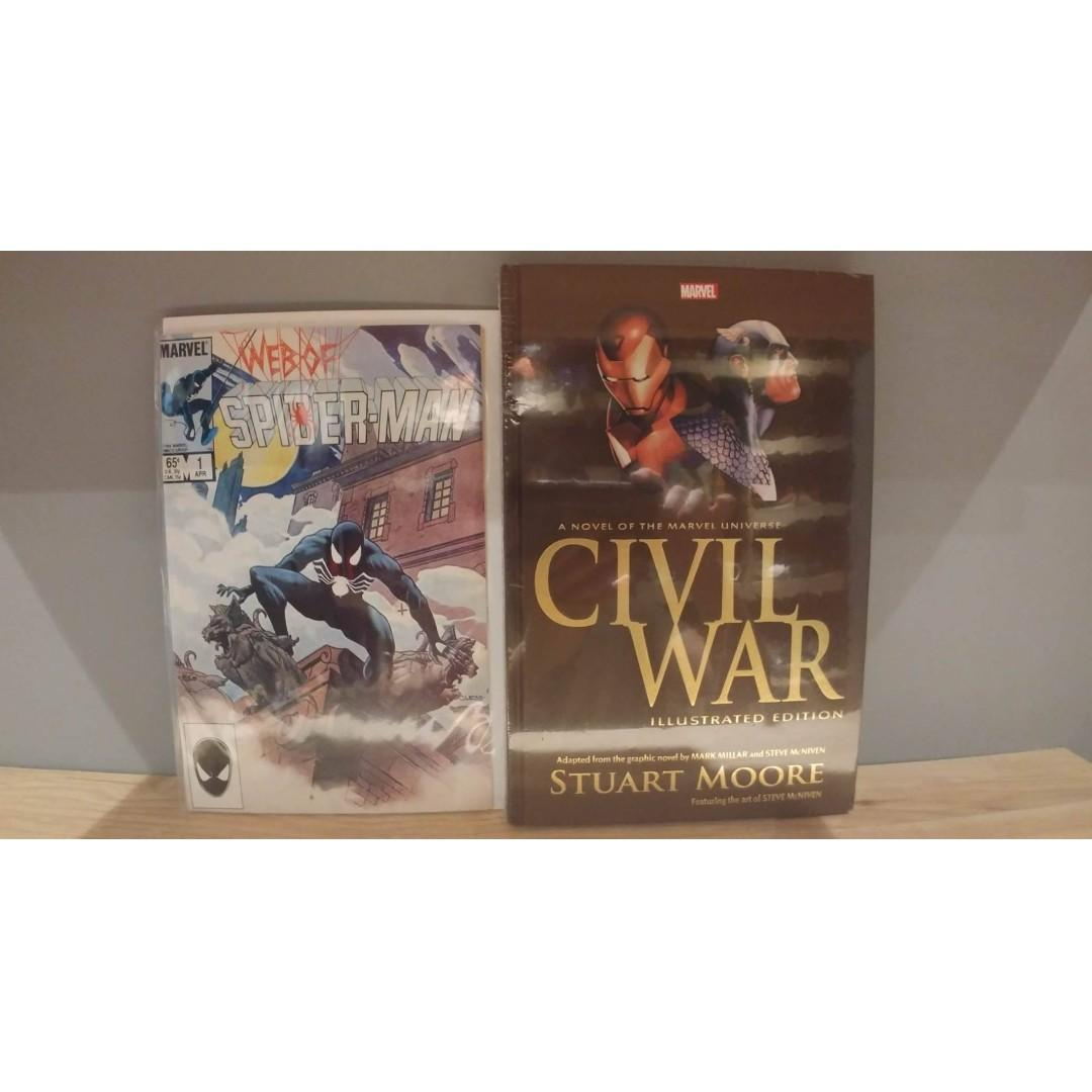 Civil War the Illustrated Edition with FREE Web of Spider-Man (1985 1st Series) # 1 COMIC BOOK