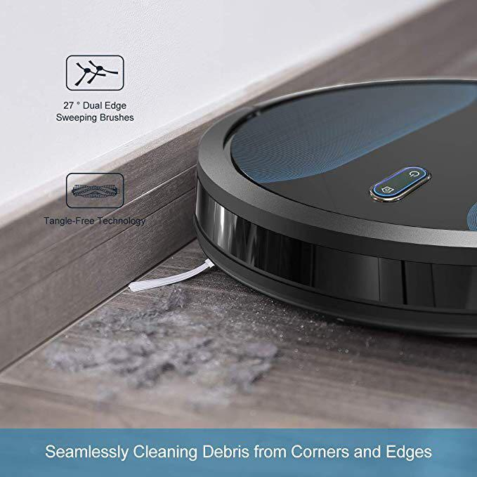 Coredy Robot Vacuum Cleaner, Fully Upgraded, Boundary Strip Supported, 360° Smart Sensor Protection, 1400pa Max Suction, Super Quiet, Self-Charge Robotic Vacuum, Cleans Pet Fur