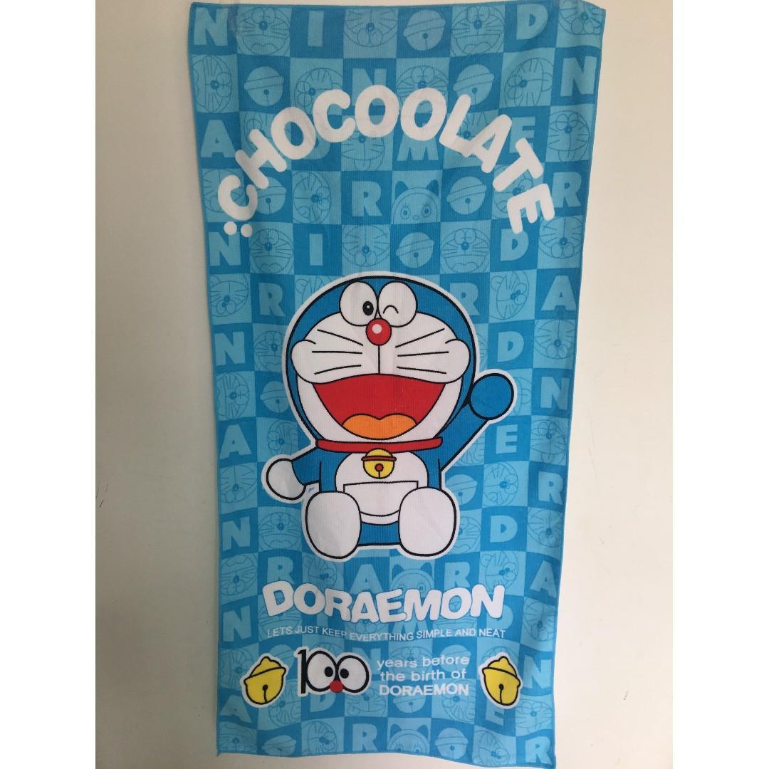 Doremon themed microfiber towel