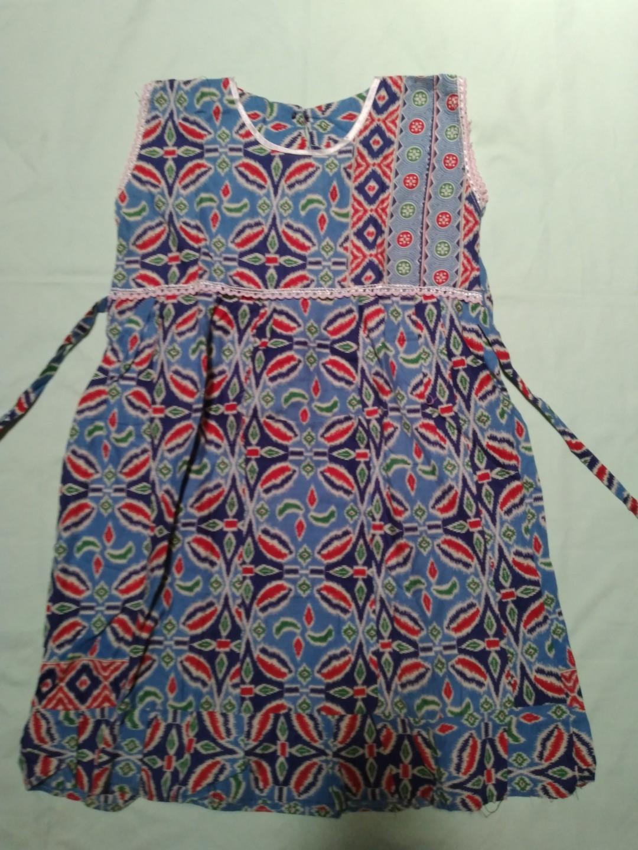 Dress Batik Anak second. Ukuran 6-7thn