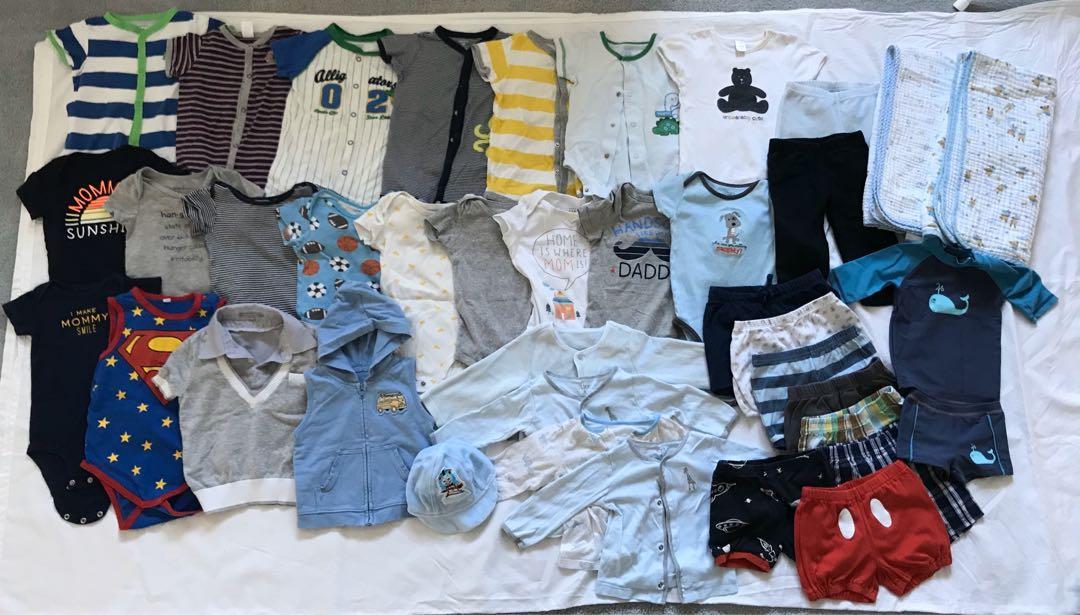 EUC baby romper/bodysuit/clothing lot (6-18m) (39 items in total)