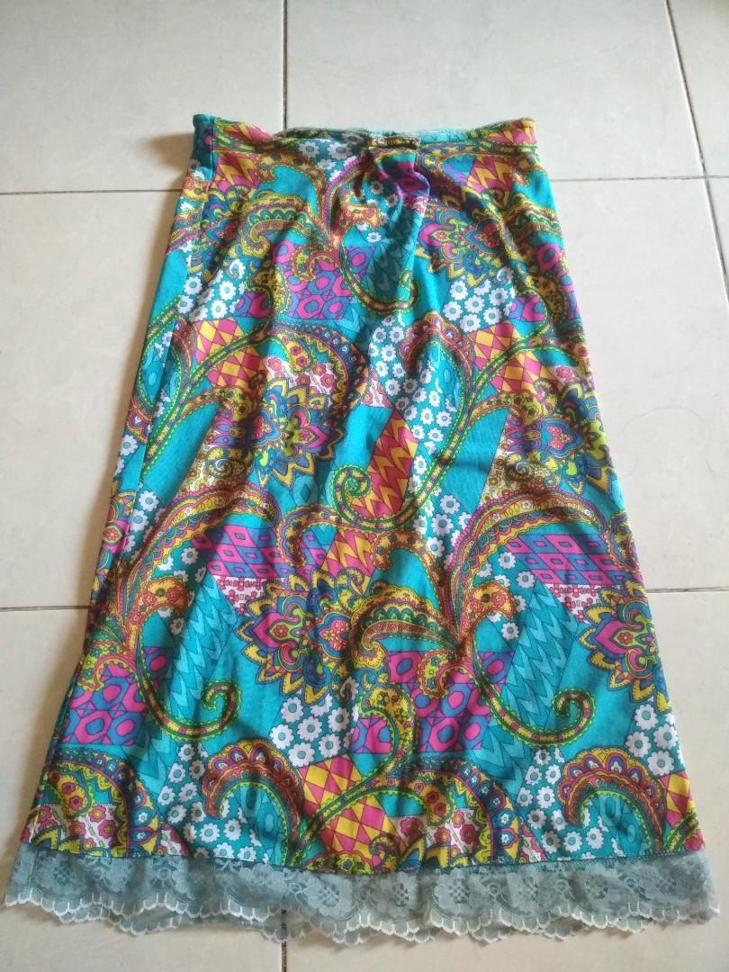 Flower Skirt Biru