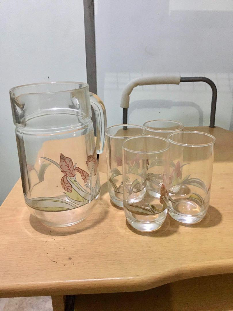 Glasses and Pitcher Set