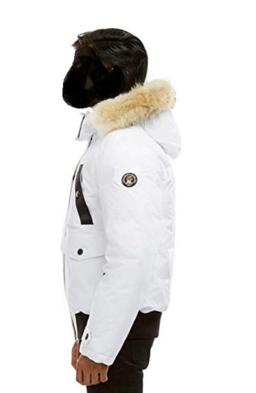 Goose SAGA Collection | Norden Mens Hooded Goose Down Jacket Parka with Real Coyote Fur