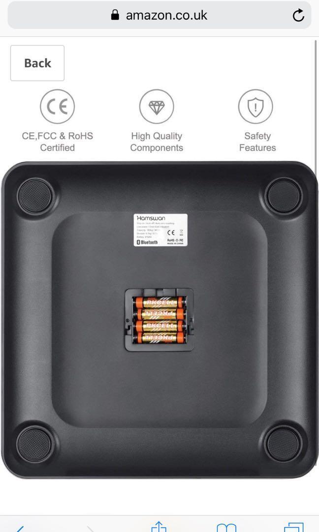 Hamswan bluetooth smart scale