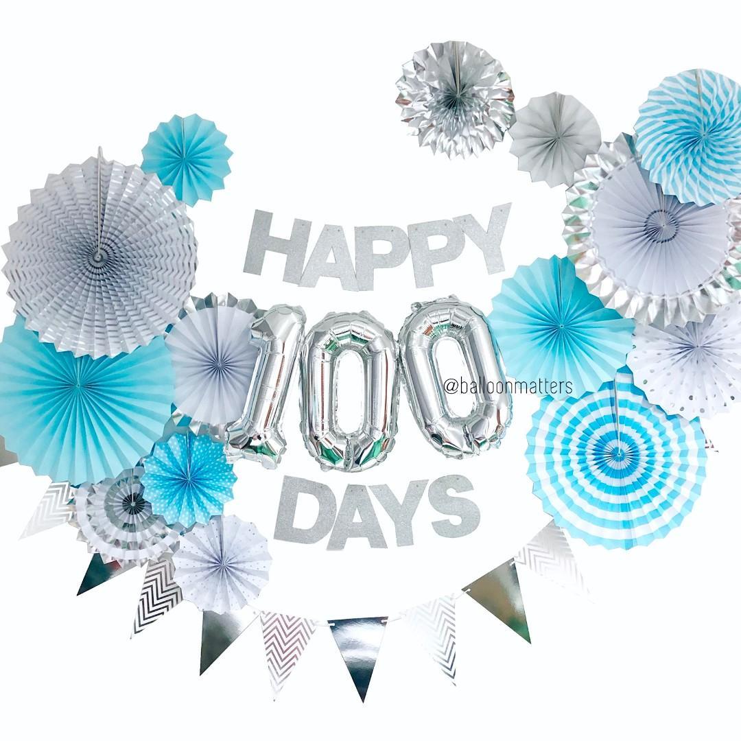 Happy 100 Days Party Decor