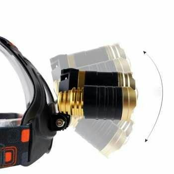 Headlamp Cree XML T6 10000 Lumens Waterproof - Gold