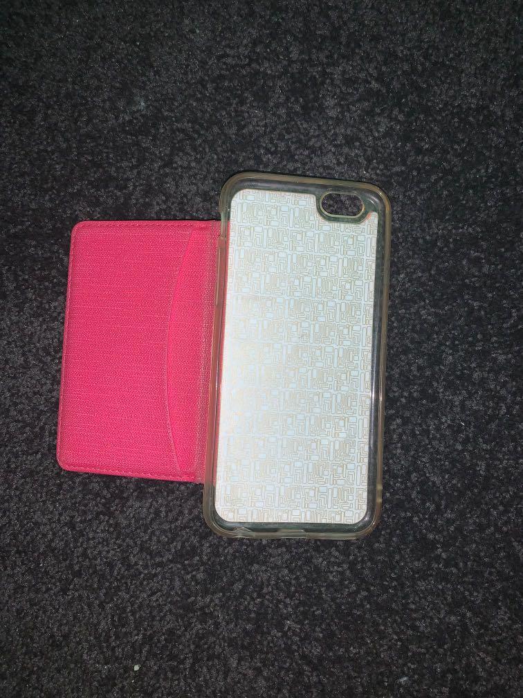 iPhone 6s pink wallet flip phone case
