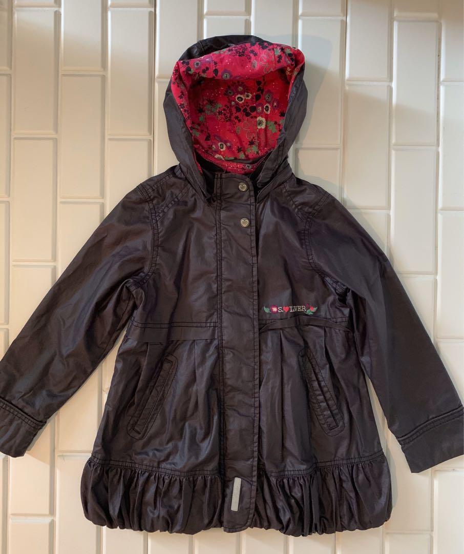 Jaket Ujan Winter Hoodie Anak Cewe 6-8 Tahun