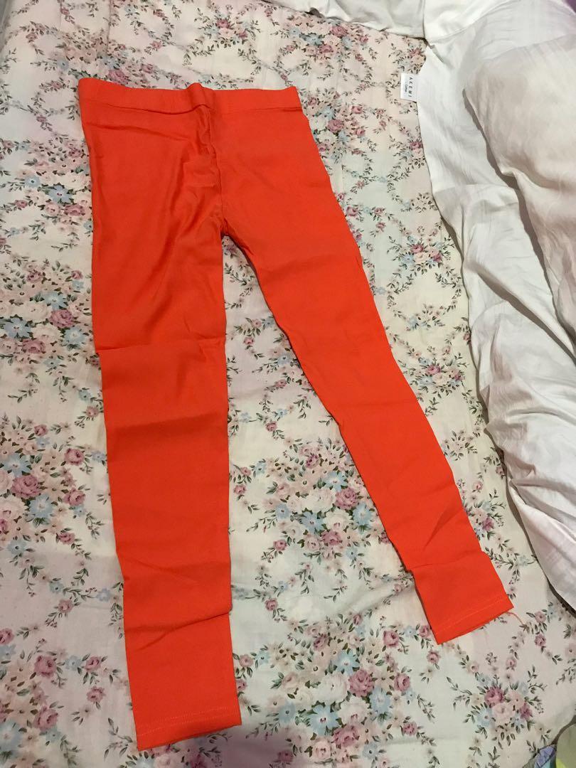 Jegging orange stretchable
