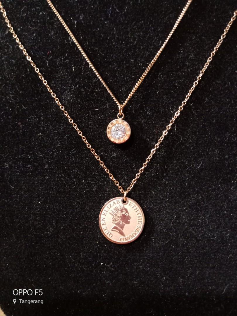 Kalung Coin 2 Layer