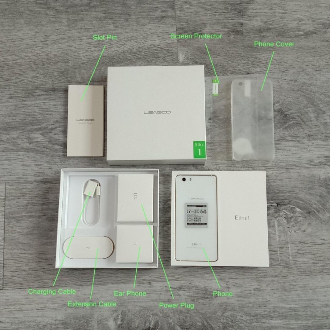 LEAGOO Elite 1 - Pearl White (Smart / Android Phone)
