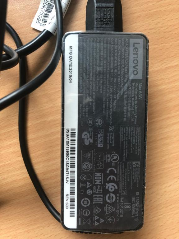 Lenovo USB-C Charger 65W (2 available) - laptop or iPad