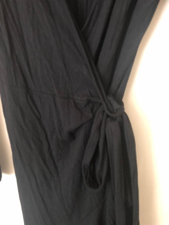 Long Sleeve Wrap Dress, Victoria's Secret, Stretch, XS
