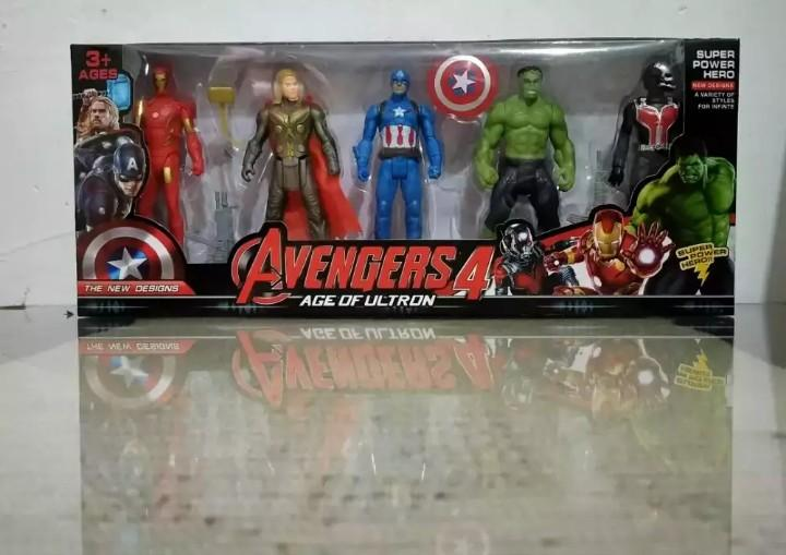 Mainan Action Figure Avengers Captain America,Hulk,Thor,Ant Man,Iron Man & Perlengkapannya MURAH & LENGKAP