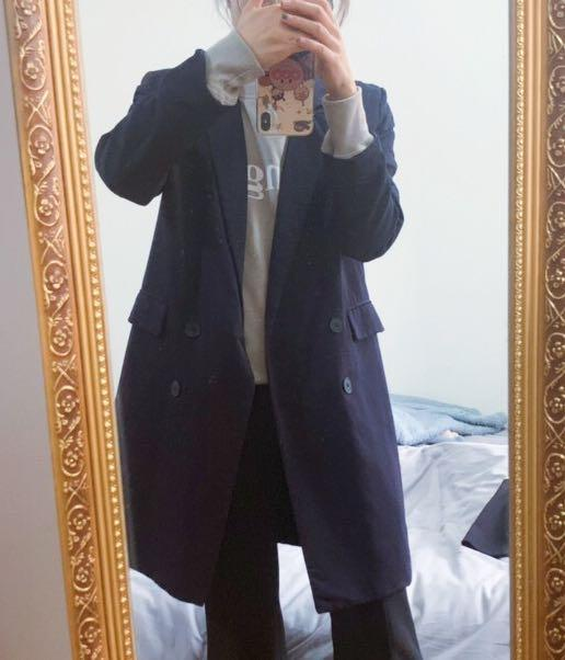 MANGO navy coat/blazer