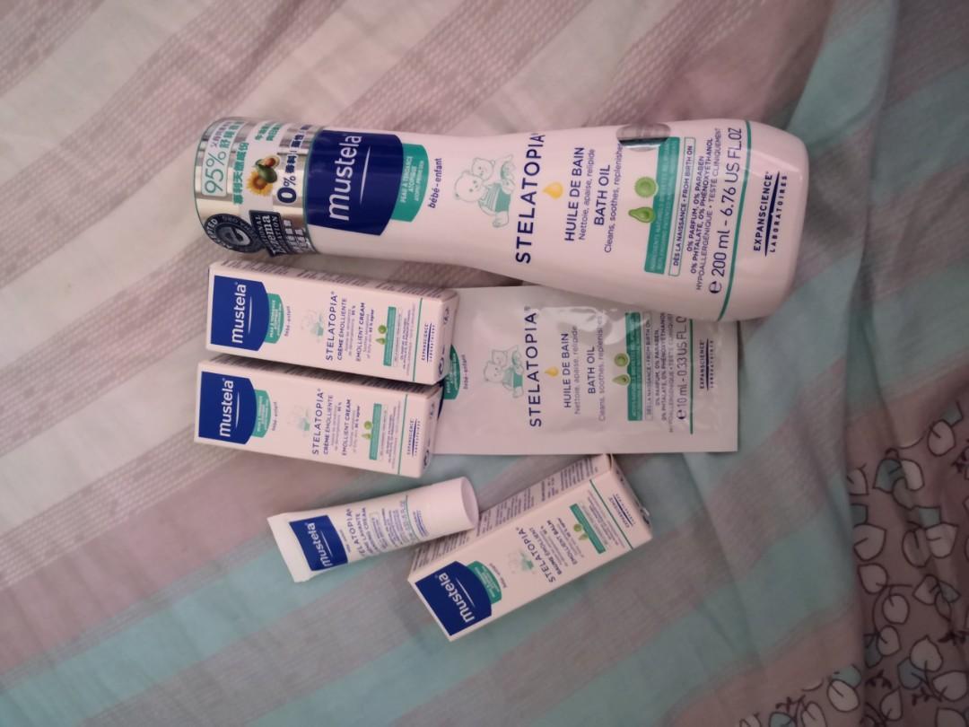 Mustela 濕疹沐浴油 送 sampless