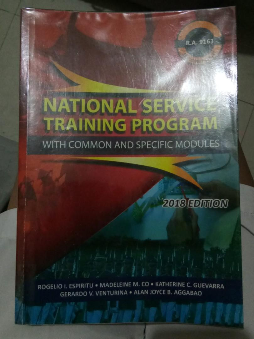 National Service Training Program (NSTP) With Common and Specific Modules 2018 Edition