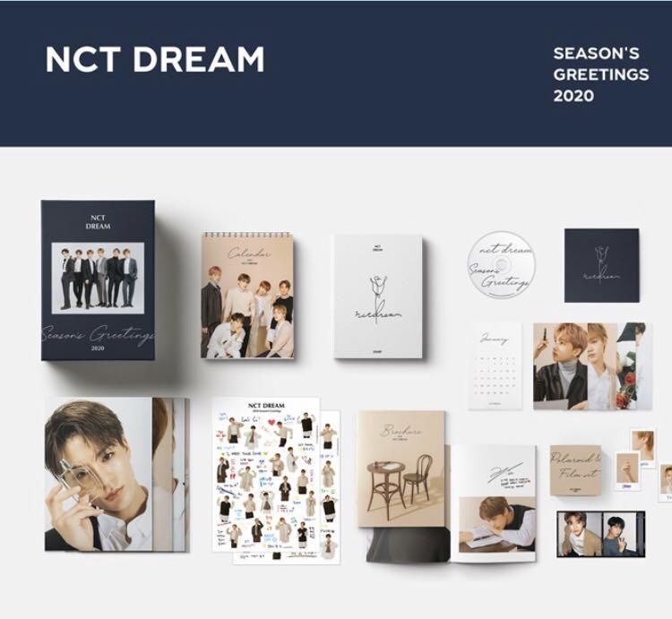 NCT DREAM SEASON GREETINGS 2020 (BROCHURE & DVD LEFT)