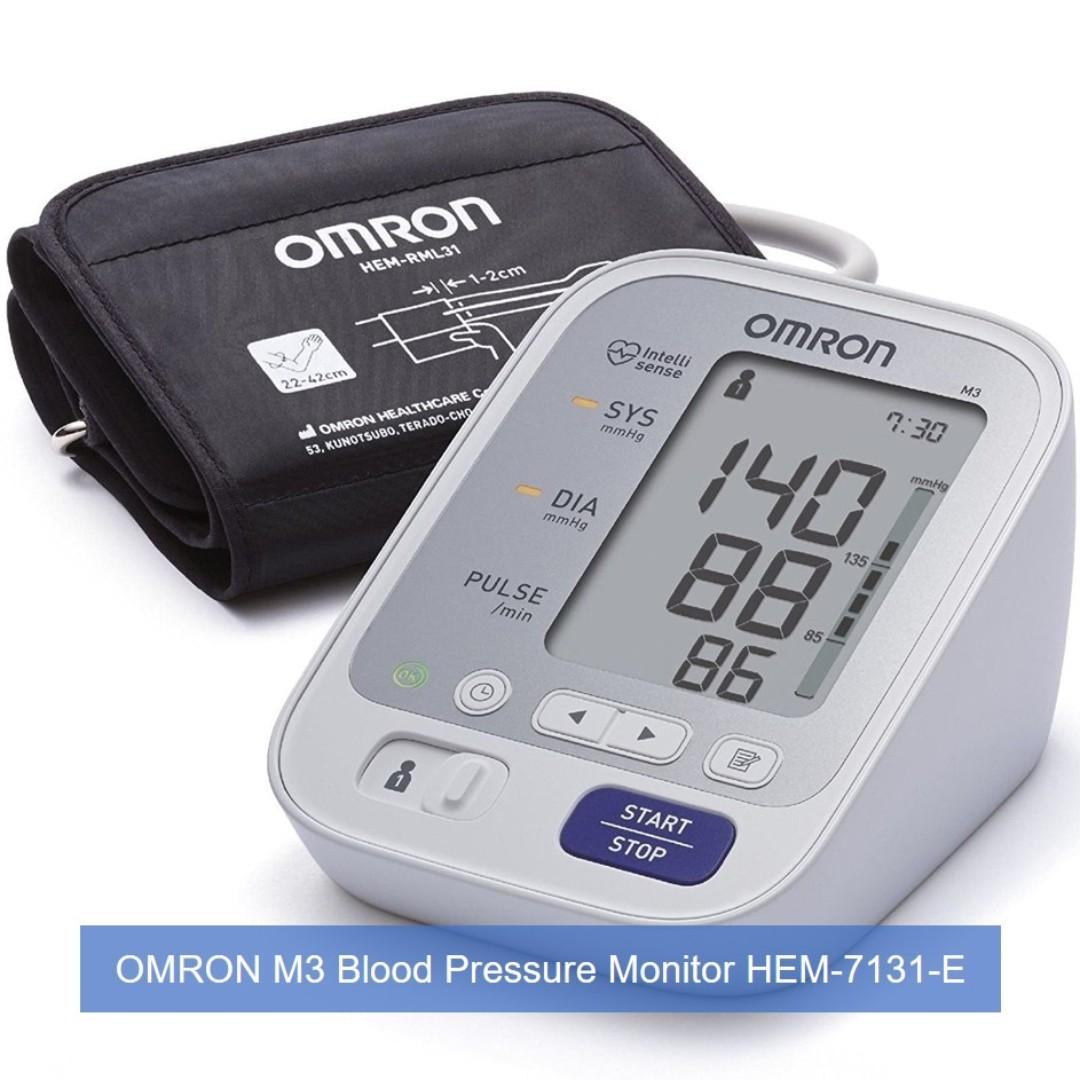 [Out Of Stock] Brand New & Authentic OMRON Healthcare M3 Upper Arm Blood Pressure Monitor and 2 YRS WARRANTY & FREE SAME DAY DOORSTEP DELIVERY at S$80!