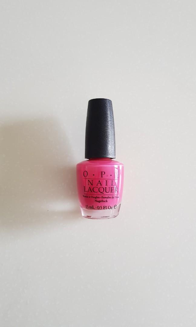 Opi Strawberry Margarita Nl M23 Black Label Health Beauty Hand Foot Care On Carousell