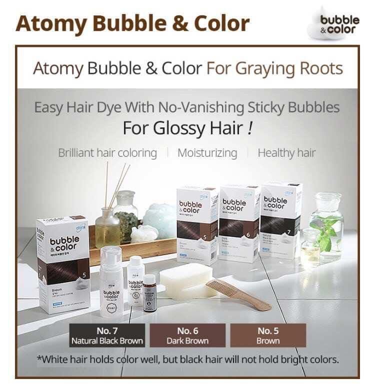 Organic bubble colour  hair dye