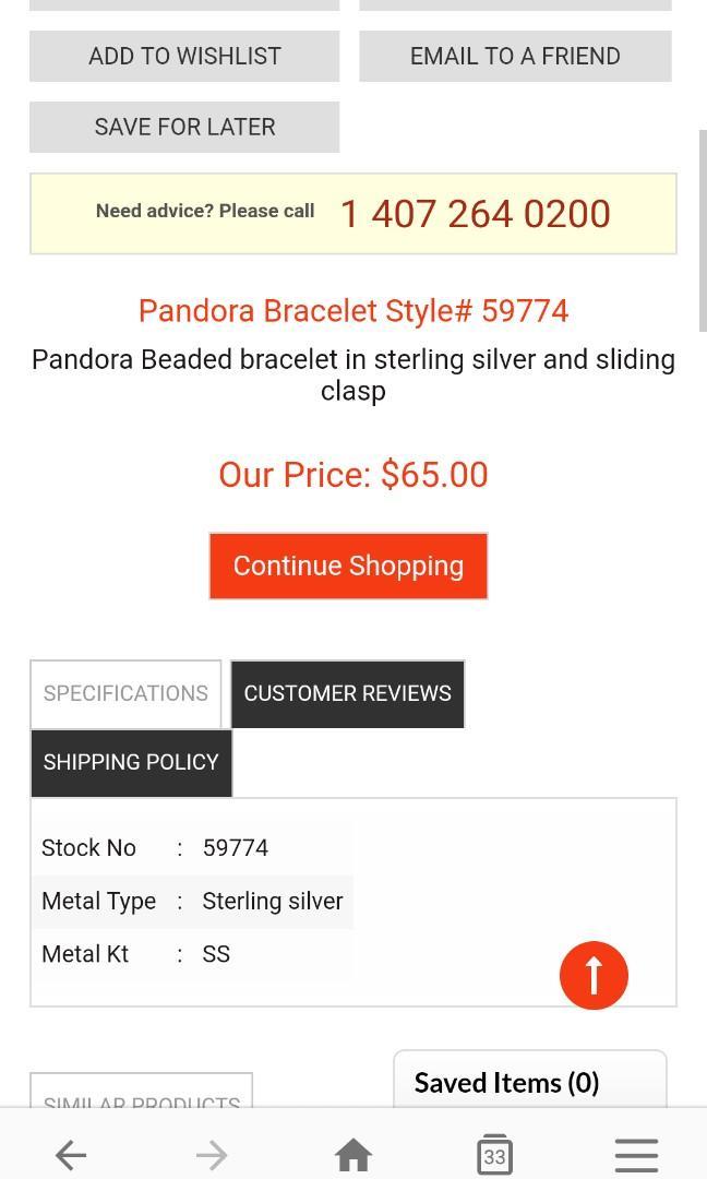 Pandora Beaded Bracelet.