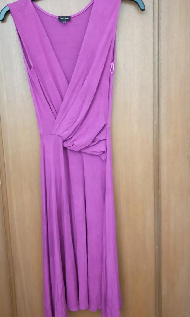 Phase Eight Fuschia Wrap Dress